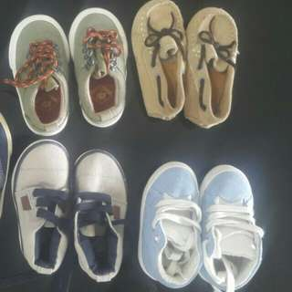 PRICE REDUCED! BRANDNEW ZARA BABY BOY SHOES. ALL FOR RM100 size 18-19-20