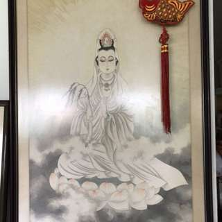 Old Guan Yin painting