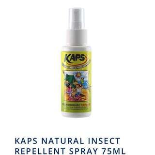KAPS Natural Insect Repellent Spray 75ML x 3 bottles (Exp Jan19)