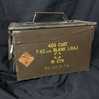 VINTAGE MILITARY BULLET CONTAINER