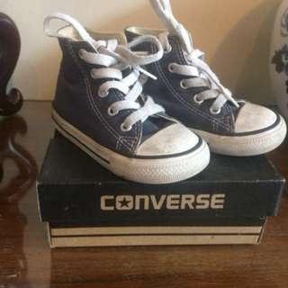 Converse Hi-cut Blue Size 6
