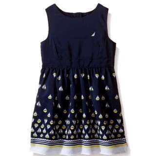 Nautica Little Girl Sail Print Dress! 24 months