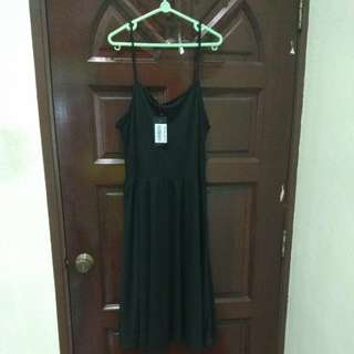 Simple black long dress