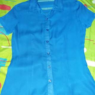 Attitudes Blue Formal Shirt for Women