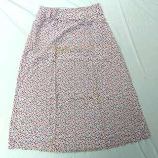 Rok payung motif bunga bahan catoon