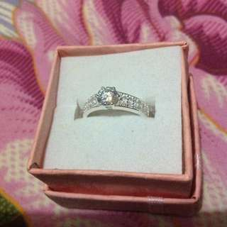 Authentic silver ring with stone