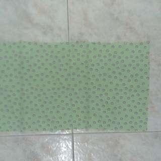 New light green w circles fabric