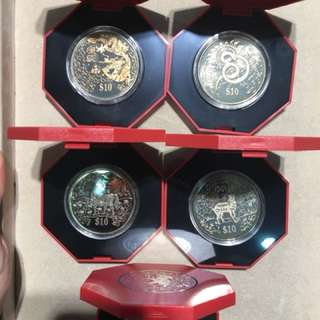 2000-2004 $10 The Singapore Mint Coins
