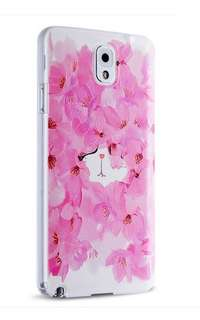 Samsung Note 3、4、5  玫瑰貓 3D 立體浮雕 透明 硅膠 輕薄外套 手機套 最後特價$60