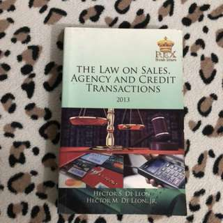 Law on Sales, Agency and Credit Transactions (2013 ed)
