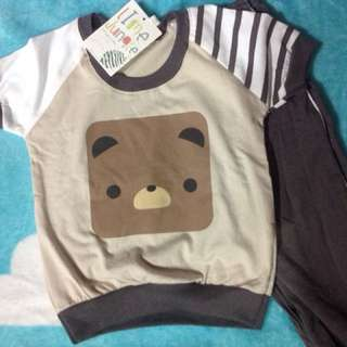 Adorable Cute Bear Shirt with Long Pants