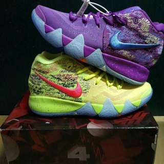 Kyrie 4 Confetti Unauthorized Authentic