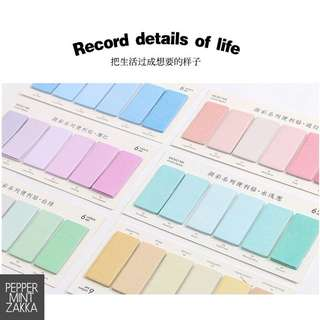 Infeel Me - Rectangular Colorful MEMO ME Sticky Notes [Set of 6]