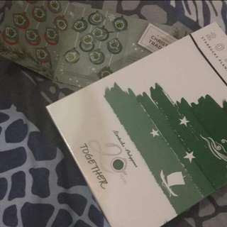 REPRICED!! 2 Starbucks Planner (small orange tan and complete sticker card)
