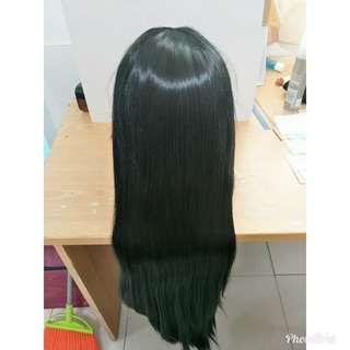 [ cosplay wig ] 100cm black wig