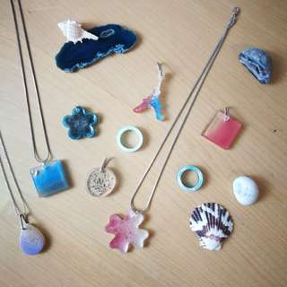 Colours series - handmade pendants and rings
