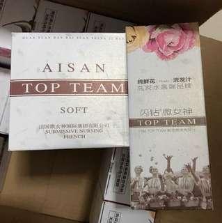 TOP Team shampoo + hair treatment CNY clearance $20 per set