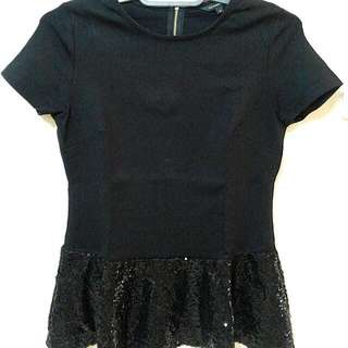 The Executive Peplum Black Top