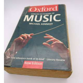 Oxford concise dictionary of Music (free delivery)