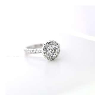 White Gold Diamond ring 0.62 Carat VS2 Excellent Cut