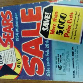SEARS 1954 household items catalogue