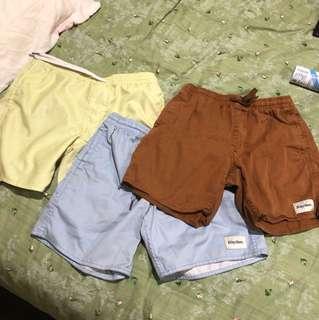 Three pairs of Rhythm Men's shorts