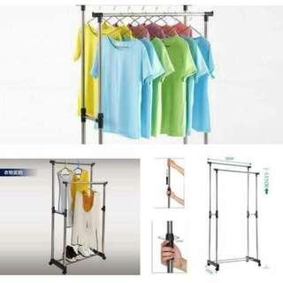 Double pole rack