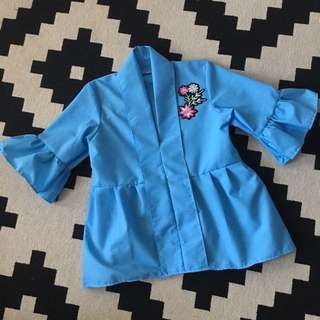 Ruched Sleeve Peplum (kids)