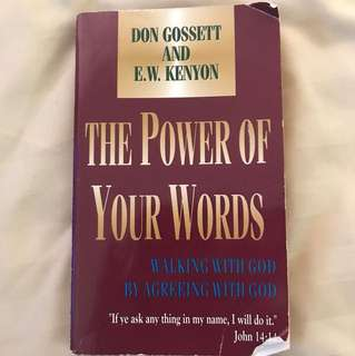 Choose 5 items for $15: The Power of Your Words