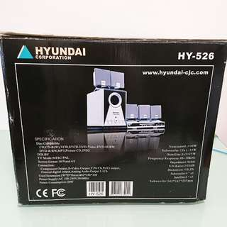 Hyundai HY-526 DVD Player with 5.1 Speakers 音響