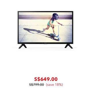 "43"" Philips Ultra Slim LED TV"
