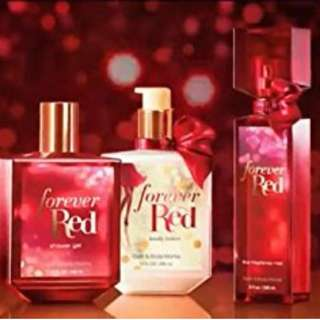 BATH AND BODY WORKS - FOREVER RED SET