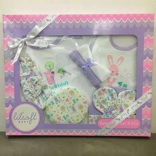 Retail $39.90 Similar Set! Lil'Soft Baby 8 Pieces Baby Gift Box Set