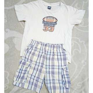 SET OF MIKI KIDS COTTON TSHIRT & GARANIMALS PANTS FOR 2 YRS OLD