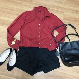 Pre-loved Bexlevs Woman Red Blouse