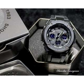 """Casio G-Shock """"GST-S100G-1BDR""""( 分層防護構造 全新G-STEEL 系列 / GST-S100G-1B/1 )( 信用卡/分期付款/門市現金交易折扣優惠 )02/04"""