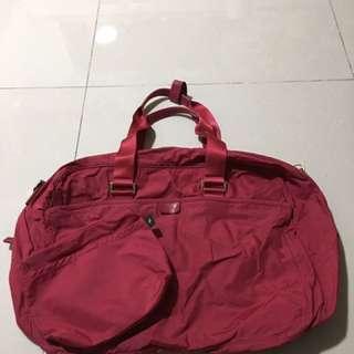 90% Agnes b 紅色側背/斜背兩用大袋