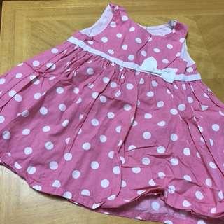 9m bb Certer's 粉紅波點連身裙
