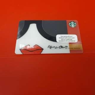 Starbucks Collectible Ltd Edition Alice & Olivia Card
