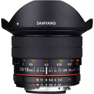 New Samyang 12mm f2.8 ED AS NCS Fisheye Lens (Canon Mount)