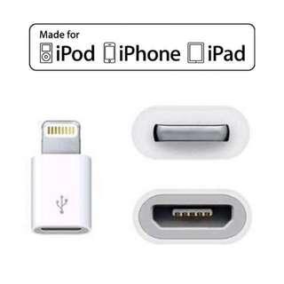 激-$70🔥🔥 Apple 正版 Original Lightning To 轉 Micro USB Adapter 原裝轉頭原廠轉頭 iPhone X 8 8 Plus 7 plus 6s plus 6 iPad mini Air 2 Pro 9.7 10.5 12.9 2017 等都通用 可充電 / 傳輸 另有代用 全新現貨 100% new genuine original adapter charging and pc data transfer