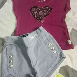 Authentic Guess top and short