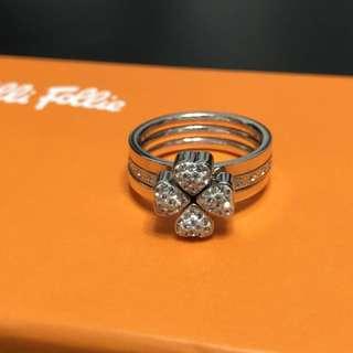 Folli Follie Lucky Clover Ring (Size 52 Silver)
