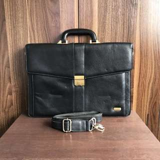 Romantique Leather Briefcase Laptop Bag