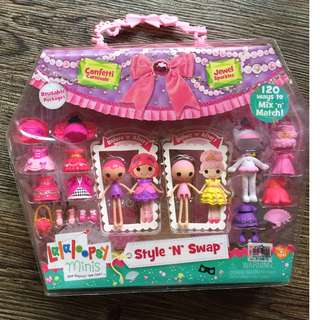 Lalaloopsy Minis Style n Swap Confetti Carnivale & Jewel Sparkles