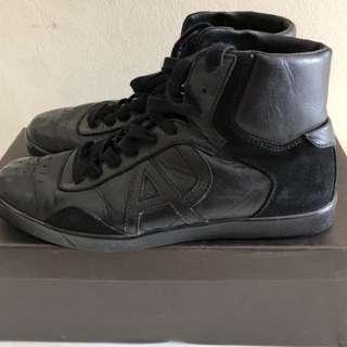 Sepatu Armani Jeans Kulit (Original)