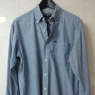 正貨美國服裝品牌Polo Ralph Lauren男裝 藍色格仔 長袖恤衫 歐洲S碼