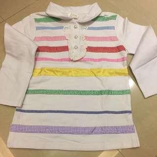 棉質彈性蕾絲彩虹上衣 13號