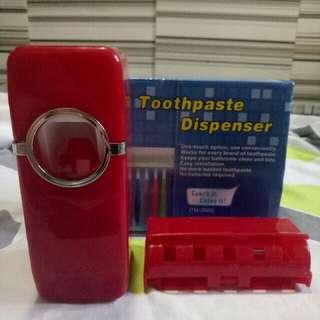 Toothpaste Dispenser and brush holder set