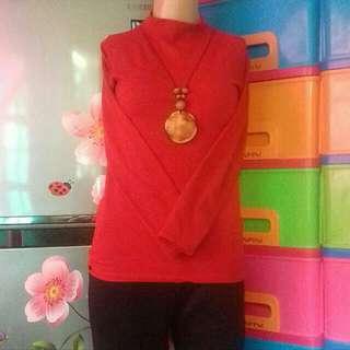 Atasan / Daleman Baju Muslim merah